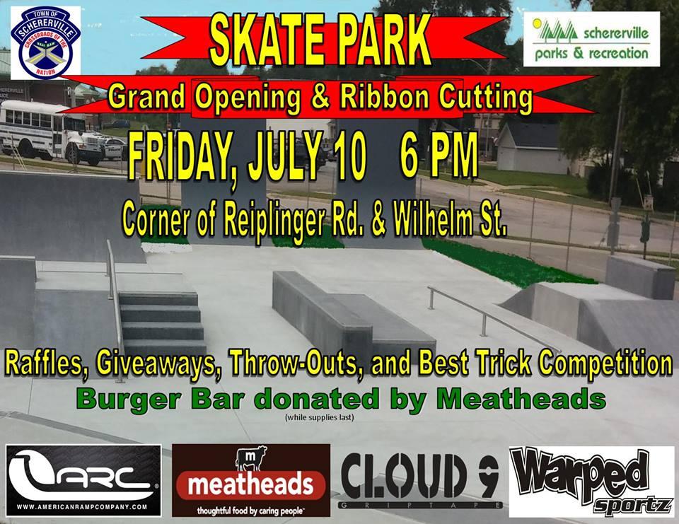 schererville skate park grand opening