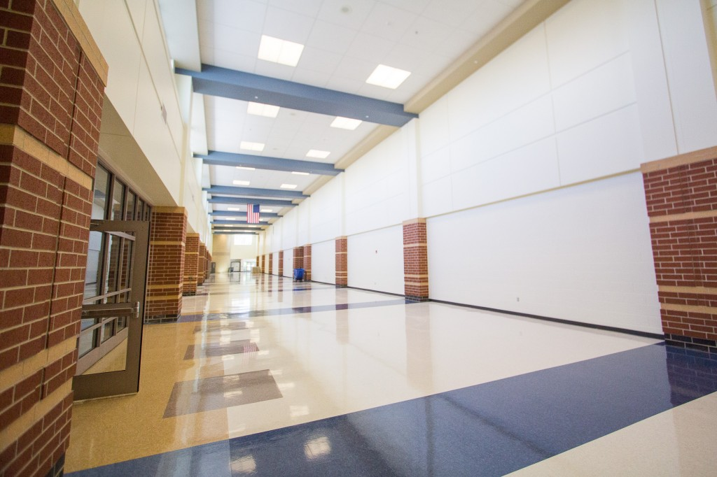 Large Hallway behind Cafeteria