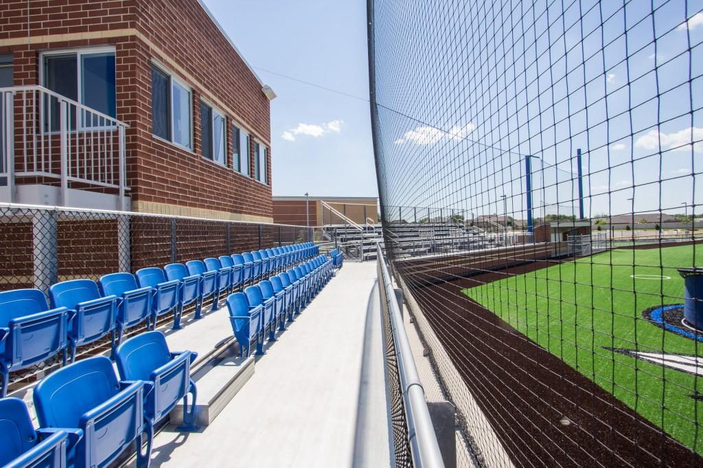 Baseball field seating
