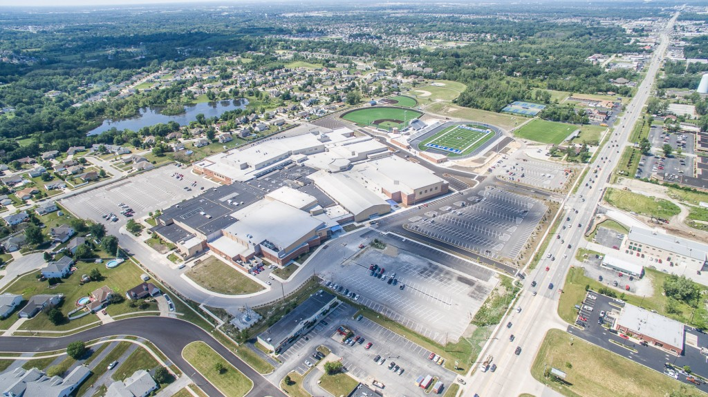 New Lake Central High School - Aerial