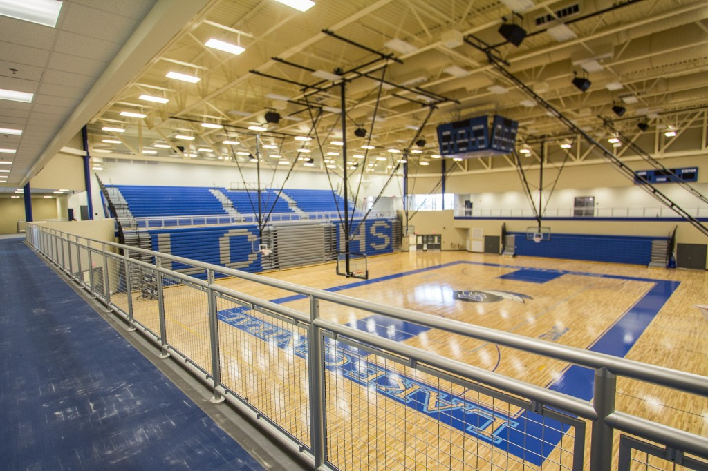 New main gym and upper level track
