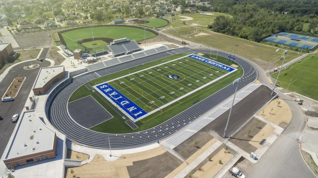New Football Field - Aerial